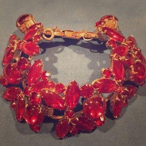 Jewelry - Cabochon Brilliant Red Fashion Vintage Bracelet